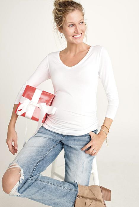 ג׳ינס הריון בויפרנד מאדרהוד מטרניטי Motherhood Maternity