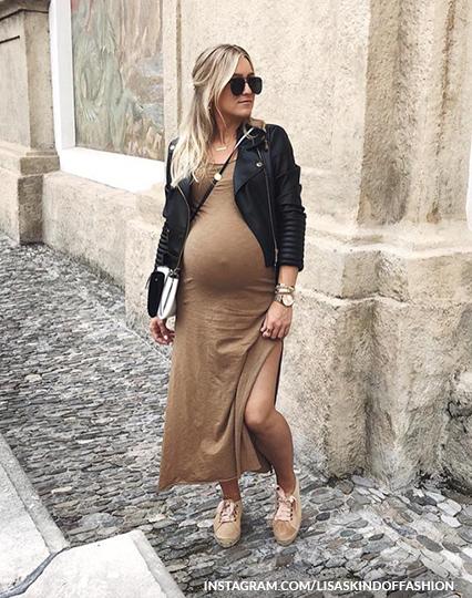שמלת טריקו מקסי בהריון
