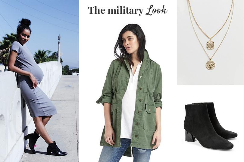 המלצות אופנה בהריון סטייל צבאי