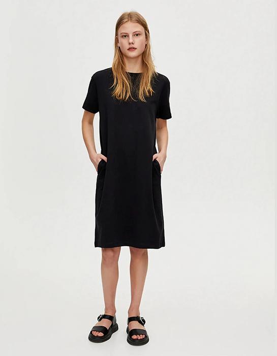 שמלה שחורה בהריון פול אנד בר