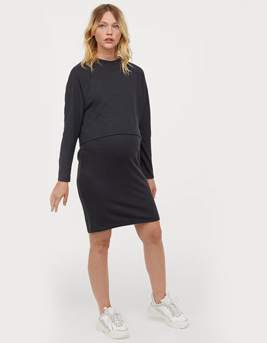 שמלה שחורה בהריון h&m